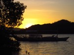 Sunset over Coron bay
