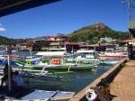 Coron wharf - you can see the public market on the right, and lots of hotel and so called resorts on the left - on stilts on the water